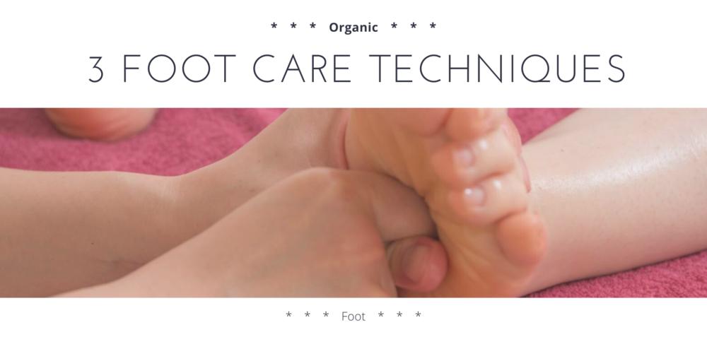 3 foot care techniques